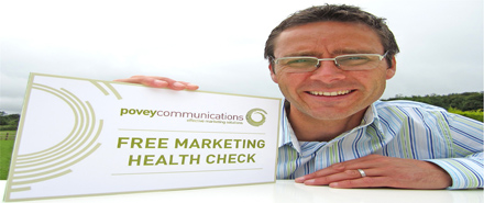 Richard Povey, owner of povey communications, promoting marketing health check