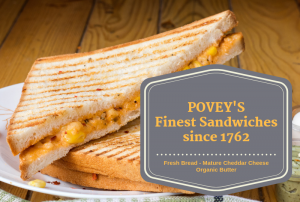 povey communications - example of good cheese sandwich branding